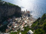 Amalfi Coast - Atrani, former fishermans village suspended on the rocks, now splendid attraction
